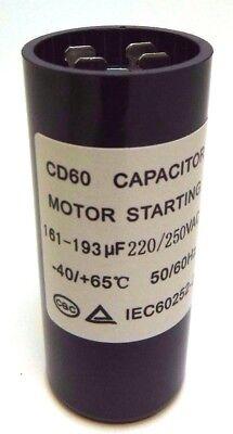 - Motor Start Capacitor Round  161-193 uF MFD 220V 250V 220-250V VAC 36x86mm CD60