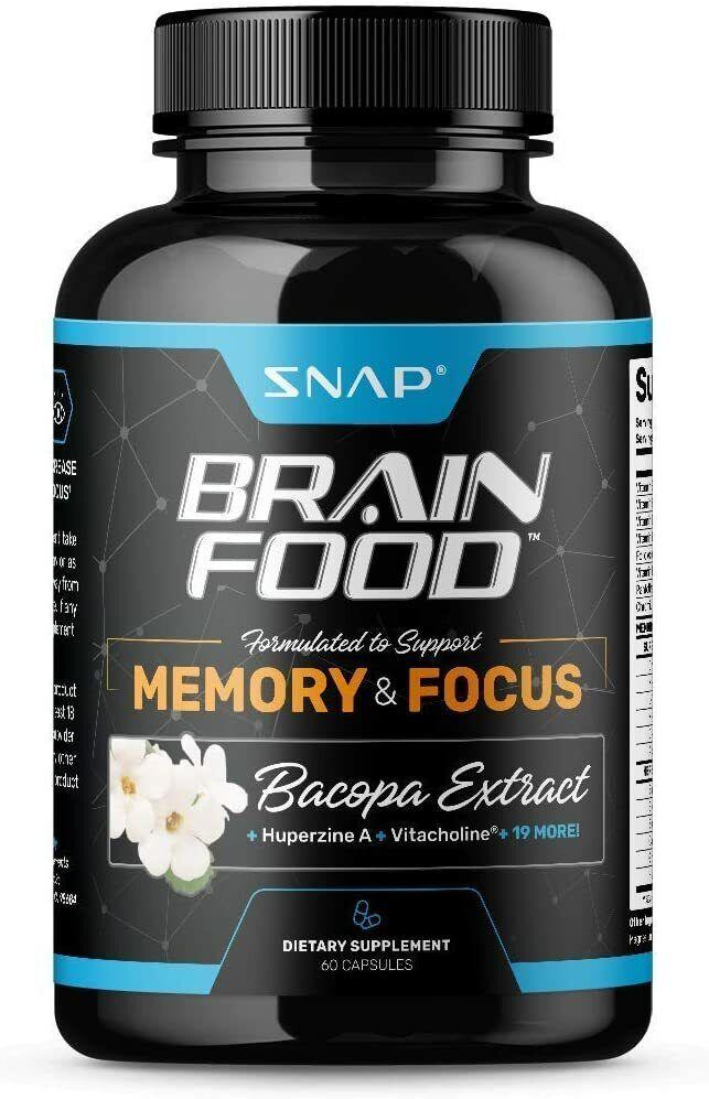 Nootropic Brain Booster Supplement Improve Brain Focus, Clarity & Memory - 60ct