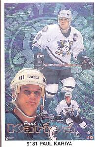 Paul-Kariya-ANAHEIM-MIGHTY-DUCKS-Original-N-James-Poster-MINI-Promo-Piece-3x5