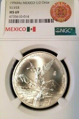 2002-Mo Mexico Silver Libertad 1 Onza NGC MS-67-177026