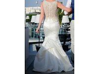 Allure Bridal 9252 Wedding Dress - Ivory/Silver, Size 8