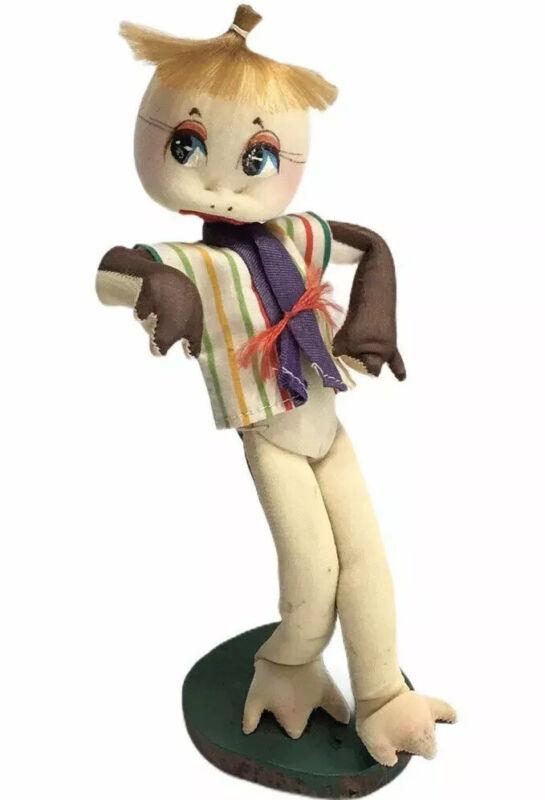 Vintage Stockinette Turtle Doll Big Eyes Posable Japan Jazz Dancer Kitschy Mod