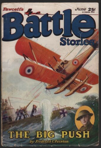 Battle Stories 1929 June.   Pulp