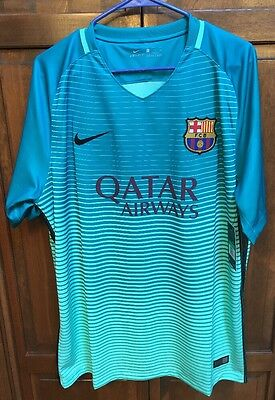 52292f08e Nike FC Barcelona FCB Jersey 2016 2017 Third Neon Green Men s XL  90 NWT