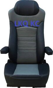 REPLACEMENT SEAT FOR KENWORTH PETERBILT FREIGHTLINER VOLVO BLACK &GRAY RIG 65351