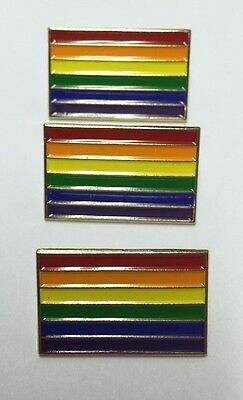 Lot Of 3 New Gay Pride Rainbow Flag 1  Pins Badge Lgbt Lbgtq Gilbert Baker
