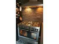 90cm Kenwood duel fuel range style cooker
