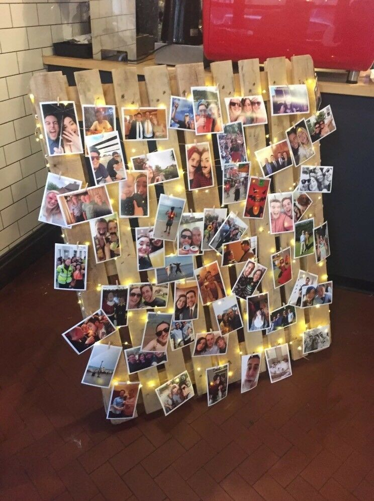 Wooden Pallet for Photos with Fairy Lights - Free Standing (wedding, table plan)