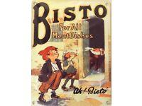 Retro Ah! Bisto - Bisto Kids Metal wall Sign Large 40 x 30 cm