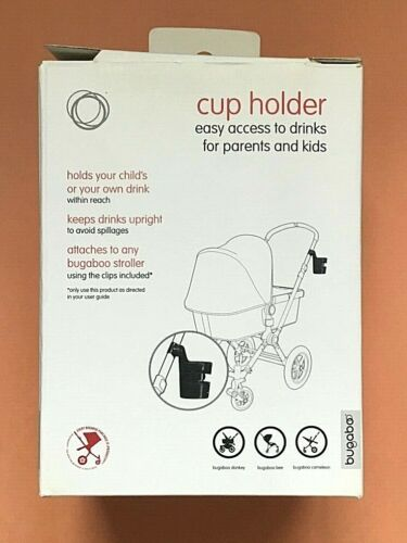 Bugaboo Cup Holder Black w/ 2 Adapters
