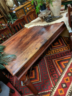 Teak Six Seater Dining Table Vintage Indian Rustic Table