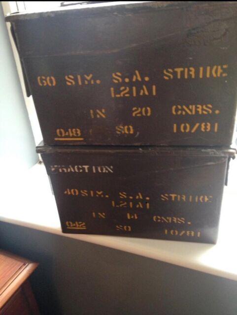 Retro Military metal ammunition boxes- collect po15 | in Fareham, Hampshire  | Gumtree