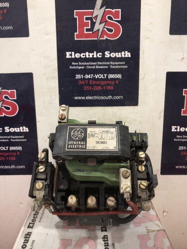 GE General Electric Contactor CR206D0 Size 2 120 Volt Coil