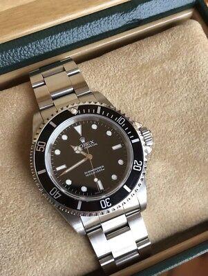 Rolex 14060 Submariner No Date Black Dial Bezel Super Clean