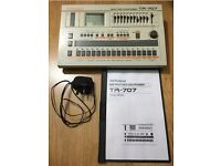 ROLAND TR707 * PRO SERVICED * CLASSIC HOUSE CHICAGO DRUM MACHINE Tr808 Tr909