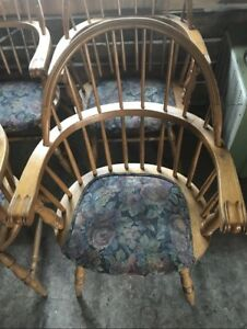 Set of 4 Solid Oak Chairs
