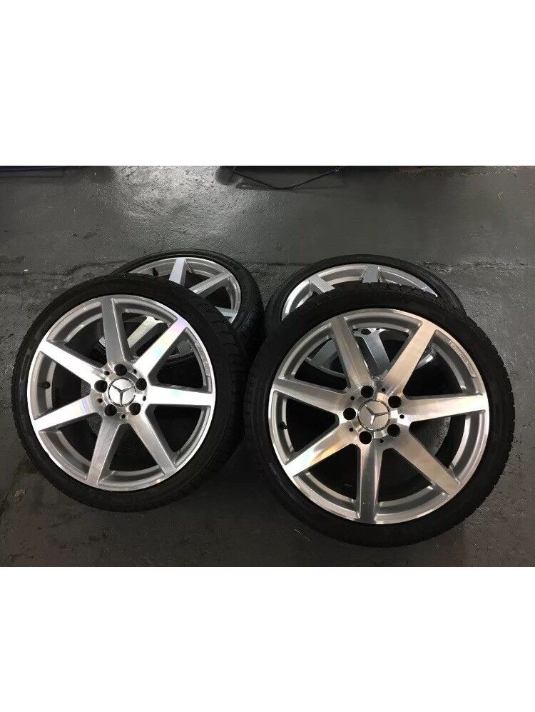 "Mercedes c class genuine 18"" alloys"