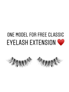 1 x model for free classic eyelashes