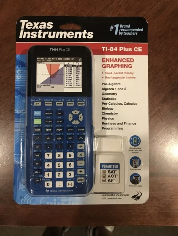 Texas Instruments TI-84 Plus CE Blue Graphing Calculator **Brand New