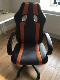 Desk office chair orange & black