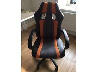 Desk office chair orange & black