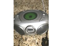 Portable CD/Radio Player Works on Batteries or Electricity with Headphone socket