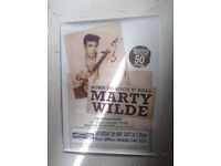Marty Wilde 50th Anniversary Tour Poster Autographed By Marty & Roxanne Wilde