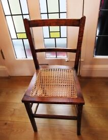 Two small oak and cane 1920s chairs