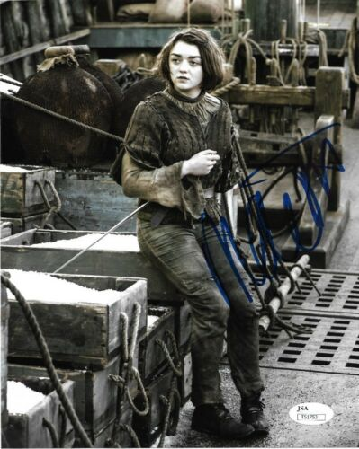 Maisie Williams Game of Thrones Autographed Signed 8x10 Photo JSA COA #16