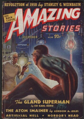 Amazing Stories 1938 October.  Revolution of 1950 by Stanley G Weinbaum.