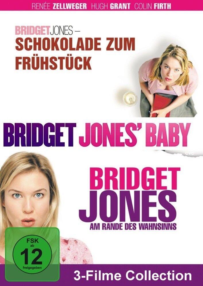 Bridget Jones 1 + 2 + 3 Schokolade Wahnsinns Baby           | 3-Fime | DVD | 111