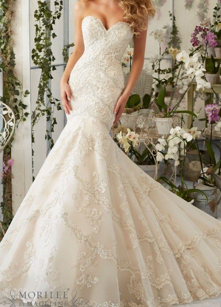 Mori Lee 2801 Ivory Wedding Dress Uk 10 Used