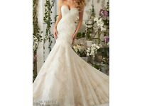 Mori Lee 2801 Ivory Wedding Dress UK 10 Used