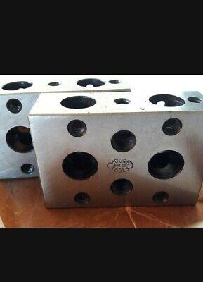 Moore 1-2-3 Blocks Used Vintage Toolmaker Machinist Grind Mill Inspection Lot