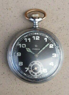 Vintage Omega Gun Metal Pocket Watch 1903