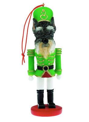 Schnauzer cropped Dog Nutcracker Soldier Christmas Ornament Tree Decoration    ()