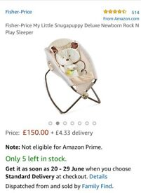 Fisher-Price My Little Snugapuppy Deluxe Rock 'N Play Sleeper for sale