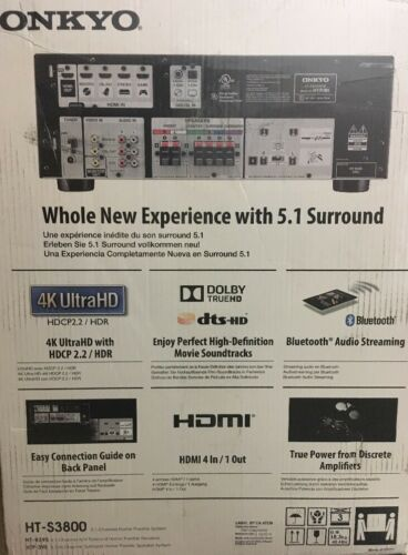 Onkyo HT-S3800 5.1 Channel Home Theater Receiver & Speaker P
