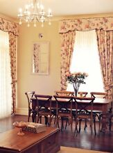 Floral curtains, pelmet and lace Moonta Copper Coast Preview