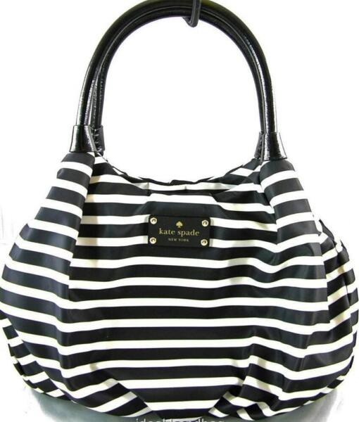 KATE SPADE NEW YORK KATE SPADE NYLON STRIPE SMALL KAREN HANDBAG