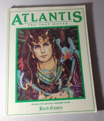 Atlantis The Lost World - Keith Sechi 1989 Paperback - Fantasy Role Playing Game