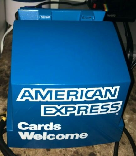 VINTAGE AMERICAN EXPRESS CARDS WELCOME ADDRESSOGRAPH TESTED WORKING RARE