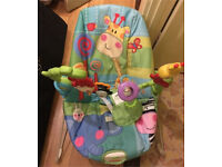 Fisher price baby bouncer hardly used.