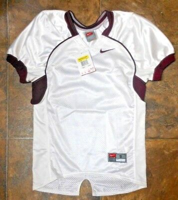 27b52e7b4bc Nike Youth S Game Football TEAM Jersey NEW  48 267839 115 White w Maroon