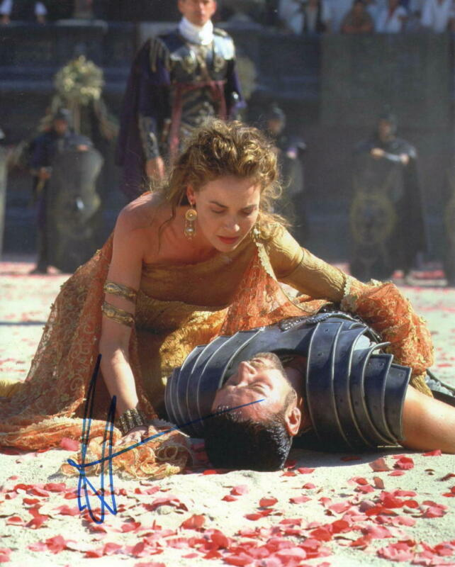 HOT SEXY CONNIE NIELSEN SIGNED 8X10 PHOTO GLADIATOR AUTHENTIC AUTOGRAPH COA B