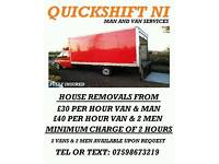 Quickshift NI Man and Van Services ( car transport man with van house removals )
