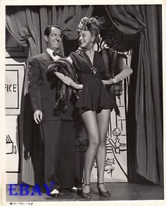 Leslie Brooks leggy Phil Silvers VINTAGE Photo Cover Girl