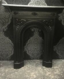 Stunning Refurbished Cast Iron Metal Bedroom Fire Fireplace Surround - Uk Delivery