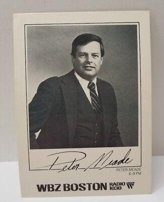 Wbz Radio Boston  Rppc Peter Meade  Radio Host Press Photo Postcard