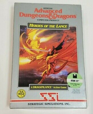Atari Advanced Dungeons and Dragons Heroes Lance 1040 ST Vintage Computer Game